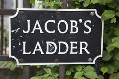 Jacob`s Ladder Street Sign; Edinburgh. Scotland Royalty Free Stock Photo