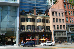 Jacob Wirth Restaurant på Stuart Street, Boston royaltyfria foton