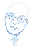 Jacob Zuma portrait - Pencil Version Royalty Free Stock Photography