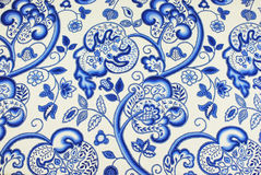 Jacobean patterned fabric Royalty Free Stock Image