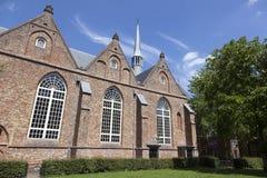 Jacobijner教会在吕伐登的中心在荷兰 免版税图库摄影