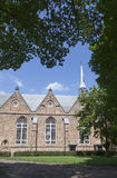 Jacobijner教会在吕伐登的中心在荷兰 免版税库存图片