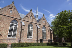 Jacobijner church in centre of leeuwarden in the netherlands. Jacobin church and blue sky in centre of leeuwarden in the netherlands on sunny summer day Royalty Free Stock Photography