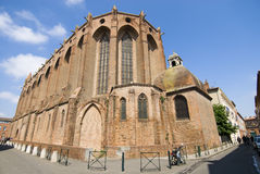 Jacobins church in Toulouse. Outside the Jacobins cathedral in Toulouse, south France Royalty Free Stock Images