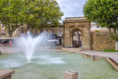 Jacobins Gate to Carcassonne City - France Stock Photography
