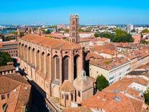 Jacobins-Kirche in Toulouse, Frankreich stockbild