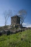 Jacobite lookout post Scotland. Scenic view of historic stone Jacobite lookout post building on hillside, Aberdeenshire, Scotland Stock Image