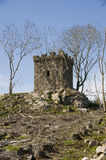 Jacobite lookout post Scotland. Scenic view of historic Jacobite lookout post building on hillside, Aberdeenshire, Scotland Royalty Free Stock Photos