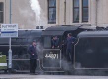 Jacobite steam train. Fort William, Scotland Royalty Free Stock Photos