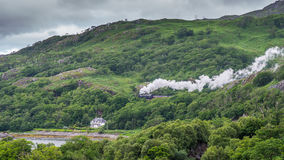 The Jacobite Steam Train. The Jacobite on its way to Mallaig on west coast of Scotland Royalty Free Stock Images