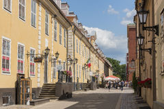 Jacobs Barracks Riga. Jacobs Barracks, the longest building in the Old Town in Riga, Latvia. Riga's historical centre is a UNESCO World Heritage Site Stock Photos