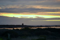 Jacobs Bay Sunset. Sunset over the atlantic at Jacobs Bay Royalty Free Stock Photo