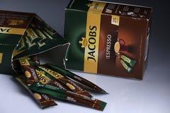 Jacobs Espresso Sticks fotografía de archivo libre de regalías