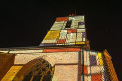 Jacobs kyrka i Winterswijk i Nederländerna i special berömd konstnär Royaltyfri Fotografi