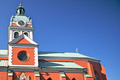 Jacobs Red Church Stockholm Stock Images