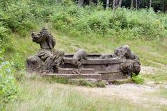 Jacobs well  KUks Forest Sculptures Stock Photos