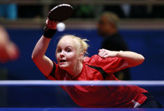Jacobsen Mie ( DEN ). Playing at the 2012 European Table Tennis Championships,17-21 October 2012,Herning,DEN Stock Image