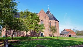 Jacobuskerk在Zeerijp,格罗宁根省  库存图片