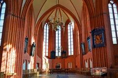 Jacobuskerk的内部在Zeerijp,格罗宁根省  库存图片