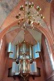 Jacobuskerk的内部在Zeerijp,格罗宁根省  库存照片