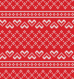 Jacquard Heart Seamless Knitting Pattern Royalty Free Stock Photos