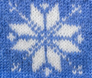 Jacquard pattern with snowflake Stock Photo