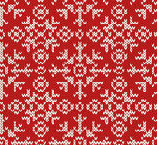 Jacquard winter seamless pattern Royalty Free Stock Images