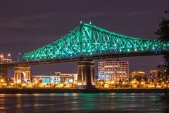 Jacque mer cartier bro i Montreal Arkivbild