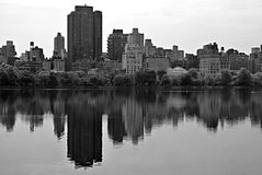 Jacqueline Kennedy Onassis Reservoir B&W Photos stock