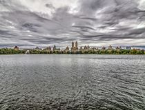 Jacqueline Kennedy Onassis Reservoir Central Park-Reservoir Royalty-vrije Stock Afbeeldingen