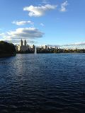 Jacqueline Kennedy Onassis Reservoir in Central Park, New York. Royalty Free Stock Photo
