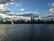 Jacqueline Kennedy Onassis Reservoir in Central Park, New York. Royalty Free Stock Photos