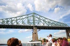 Jacques Cartier Bridge Imagen de archivo libre de regalías