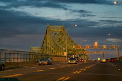 Jacques-Cartier Bridge Stock Foto's