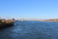 Jacques-Cartier Bridge. Across the St Lawrence River Royalty Free Stock Photography