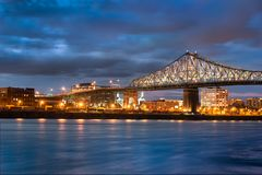Jacques Cartier Bridge in Canada royalty free stock image