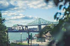 Jacques-Cartier Bridge de Montreal Quebec Canadá Imagen de archivo