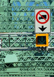 Jacques Cartier bridge (detail), Montreal, Canada 2. Detail of the most important bridge in Montreal stock images