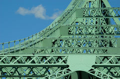 Jacques Cartier bridge (detail), Montreal, Canada 3. Nice curve on the most important bridge in Montreal royalty free stock image