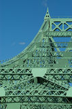 Jacques Cartier bridge (detail), Montreal, Canada 4. Nice curve on the most important bridge in Montreal royalty free stock photography
