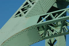 Jacques Cartier bridge (detail), Montreal, Canada 5. Nice detail on the most important bridge in Montreal Royalty Free Stock Images
