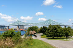 Jacques Cartier Bridge in Montreal Stock Afbeeldingen