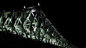 Light bridge in motion stock video footage