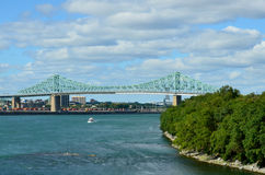 The Jacques Cartier Bridge Royalty Free Stock Images