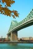 Jacques Cartier bridge in Montreal in Canada. View of Jacques Cartier Bridge in Montreal in Quebec province in Canada stock images