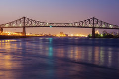 Jacques Cartier Bridge in Montreal Stock Images