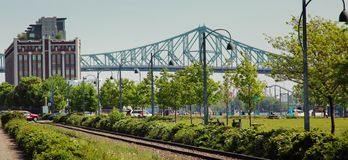 Jacques Cartier bridge in Montreal Royalty Free Stock Images