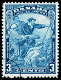 Jacques Cartier Postage Stamp Royalty Free Stock Photography