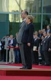 Jacques Chirac, Angela Merkel Royalty Free Stock Photos