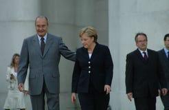 Jacques Chirac, Angela Merkel Royalty Free Stock Images